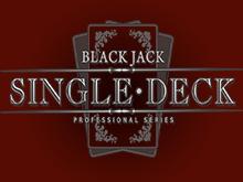 Игровые автоматы на деньги Single Deck Blackjack Professional Series